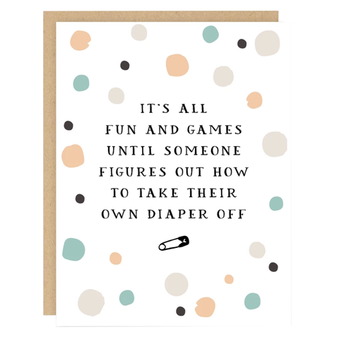 Fun & Games Baby Card