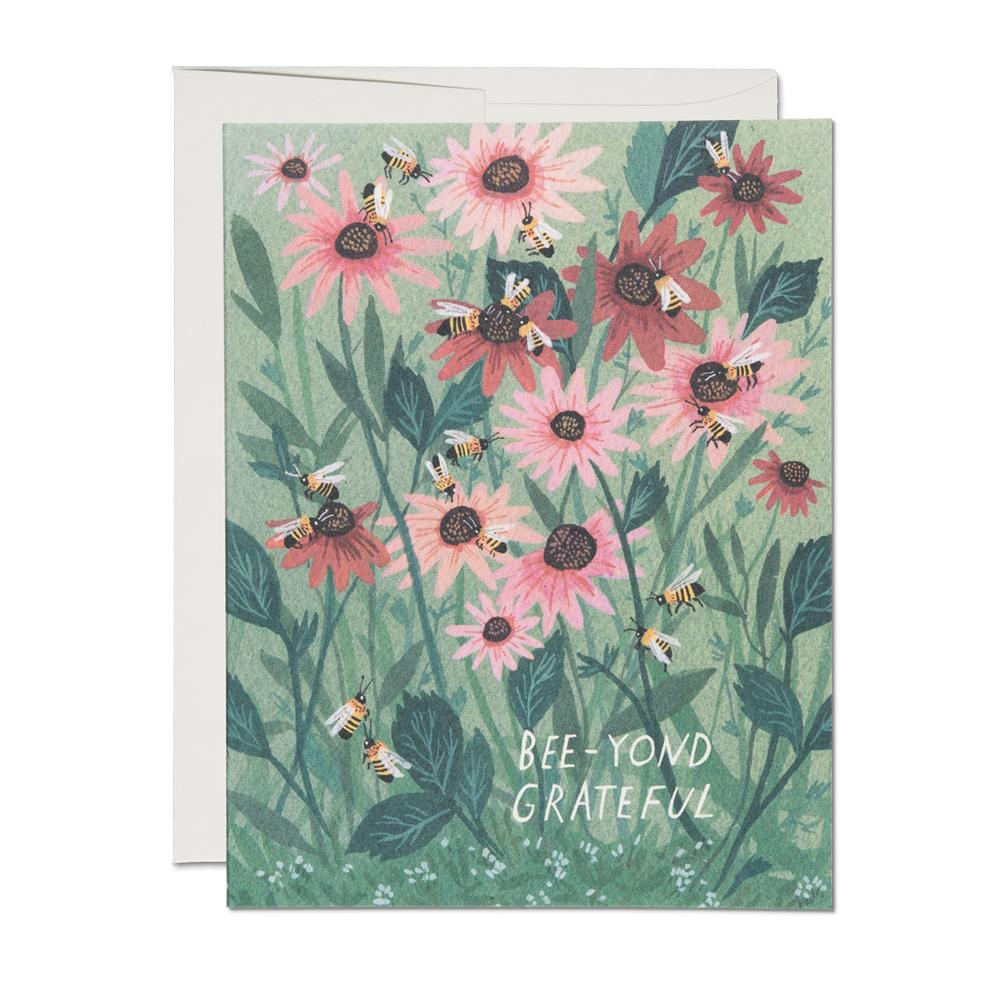 Greeting Cards - Bee-yond Grateful Card