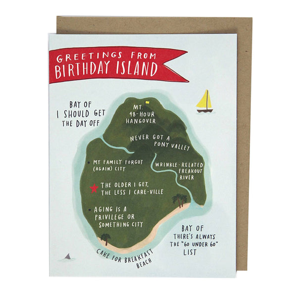Greeting Cards - Birthday Island Card