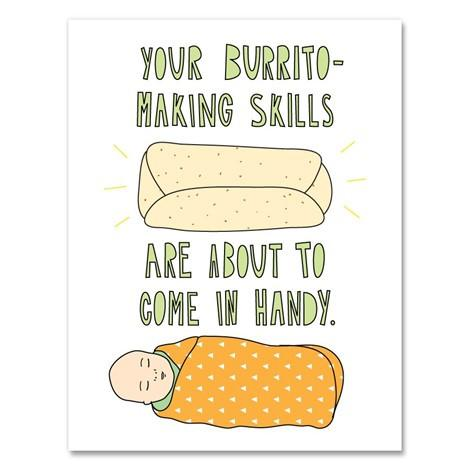 Greeting Cards - Burrito Baby Card