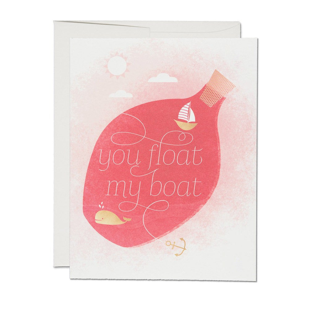 Greeting Cards - Float My Boat Card