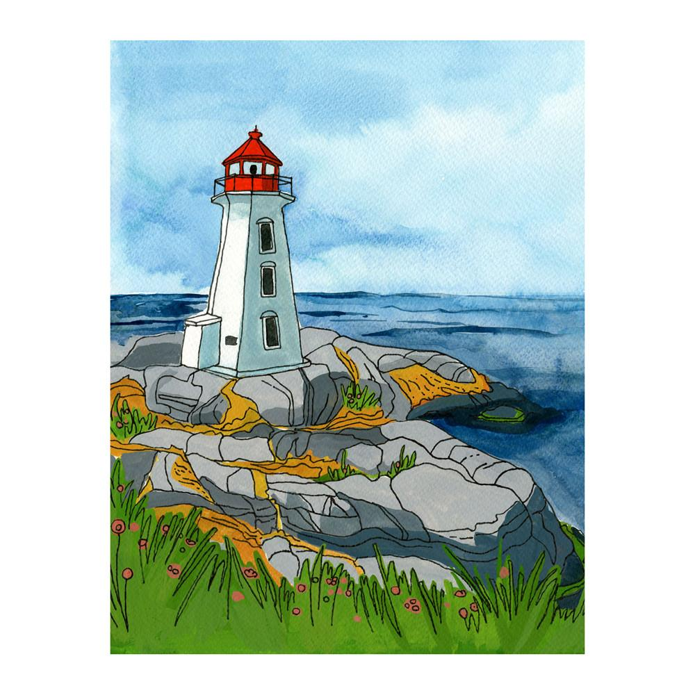 Greeting Cards - Peggy's Cove, Nova Scotia Postcard