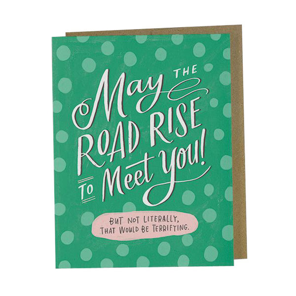 Greeting Cards - Road Rise To Meet You Card