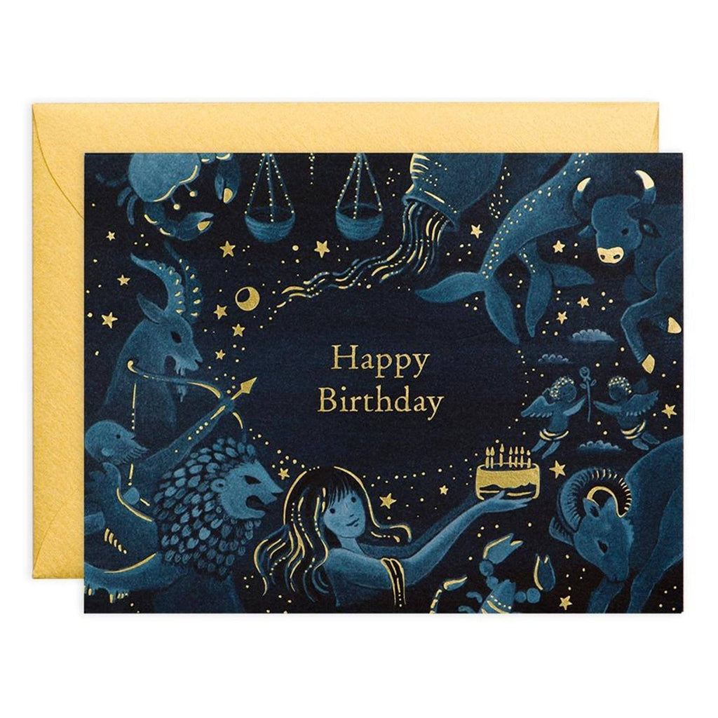 Greeting Cards - Zodiac Birthday Card