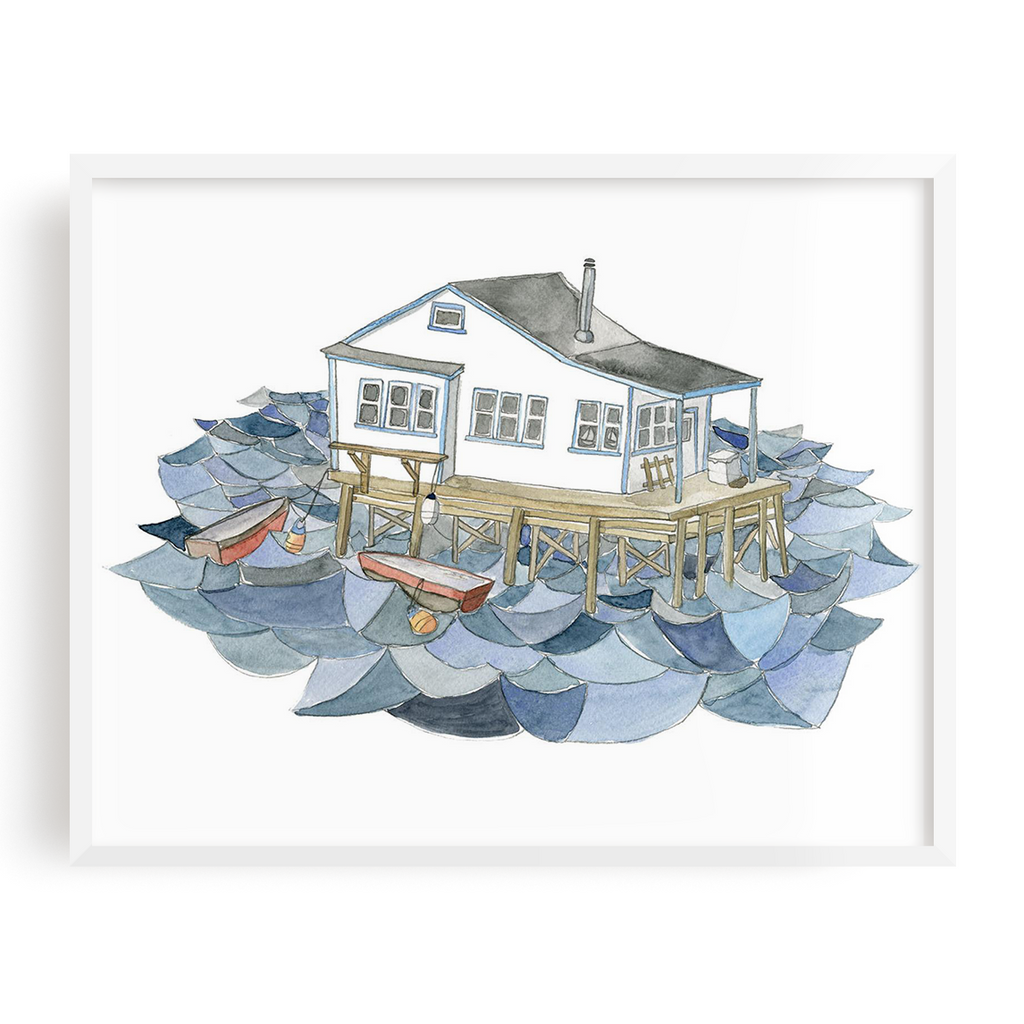 House on the Water Print