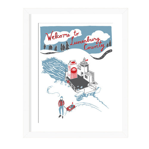 Housewares - Welcome To Lunenburg County Print
