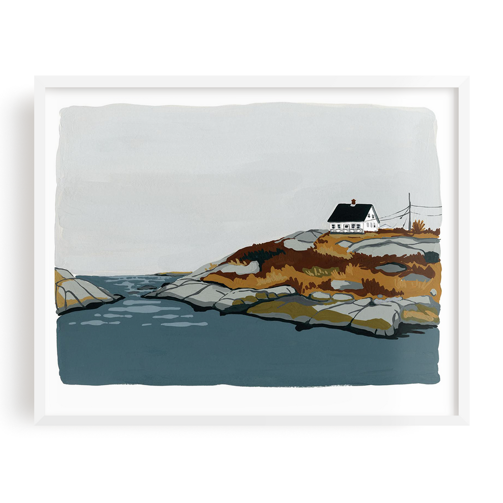 House By The Shore Print