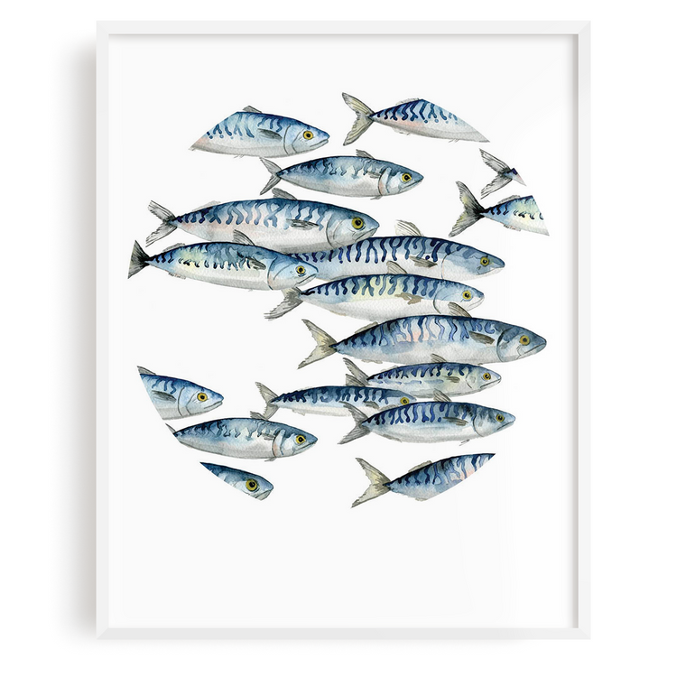 Mackerel Run Print