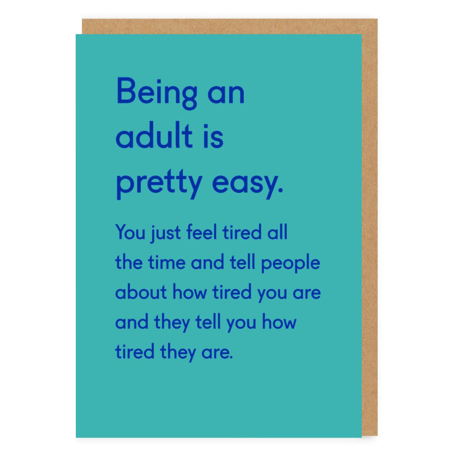 Tired All The Time Card