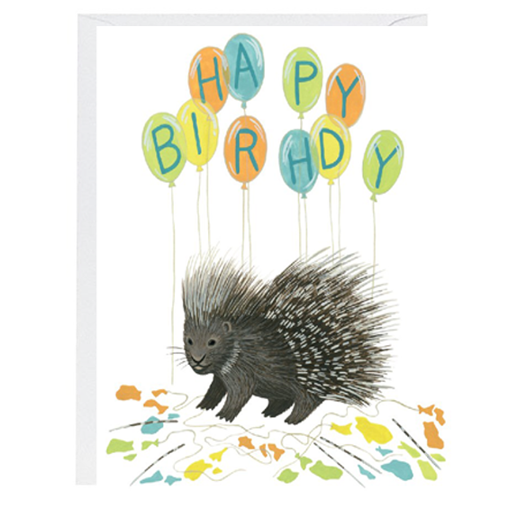 Porcupine Birthday Card