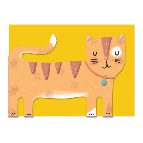 Orange Tabby Card