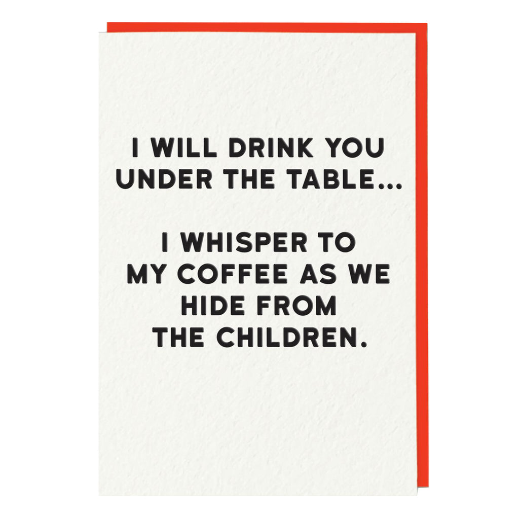 Drink You Under the Table Card
