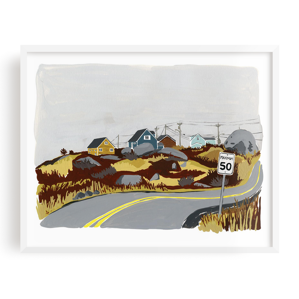 Road To Peggy's Cove Print