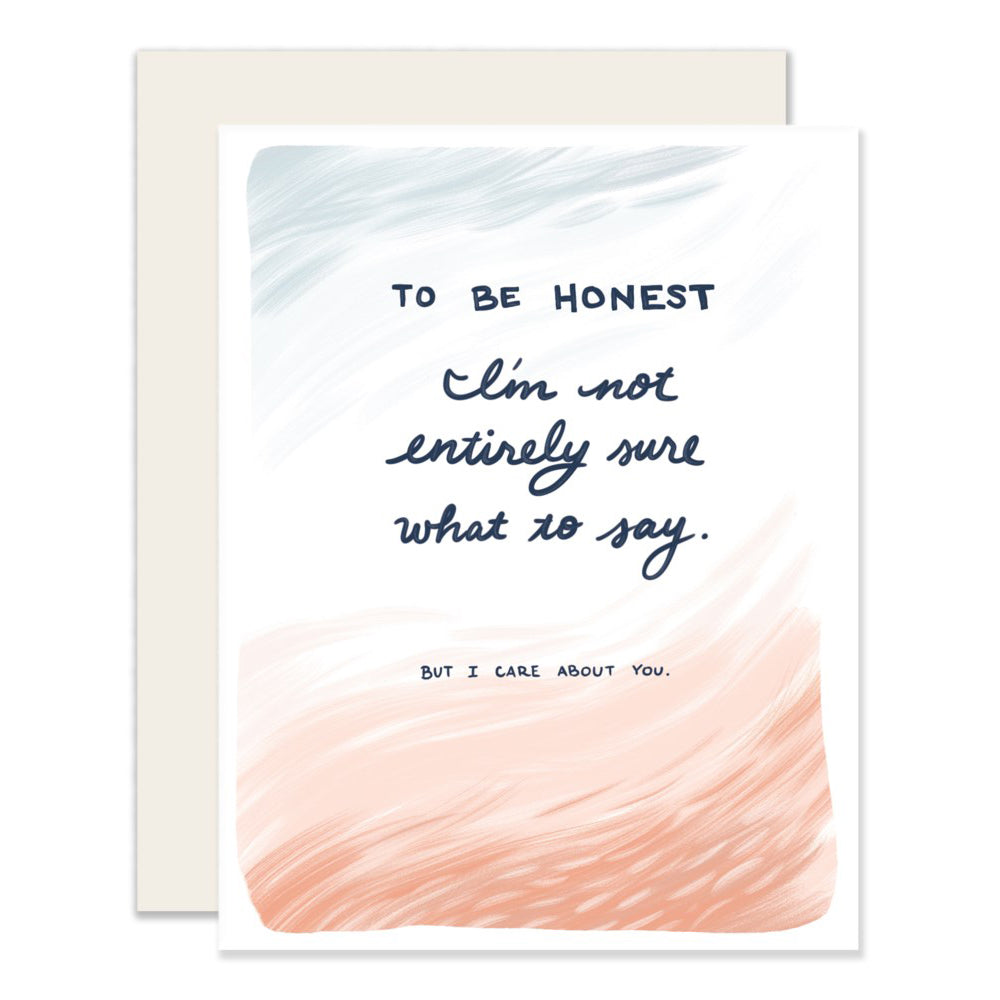 To Be Honest Card