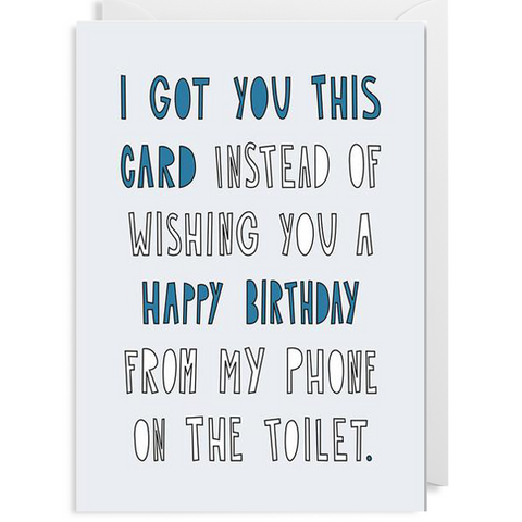 Toilet Birthday Card