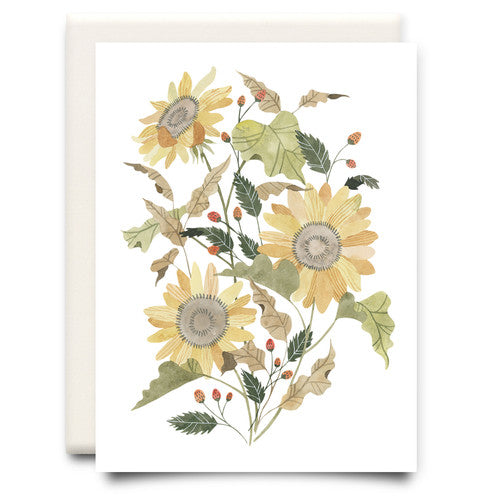 Sunflower Bouquet Card