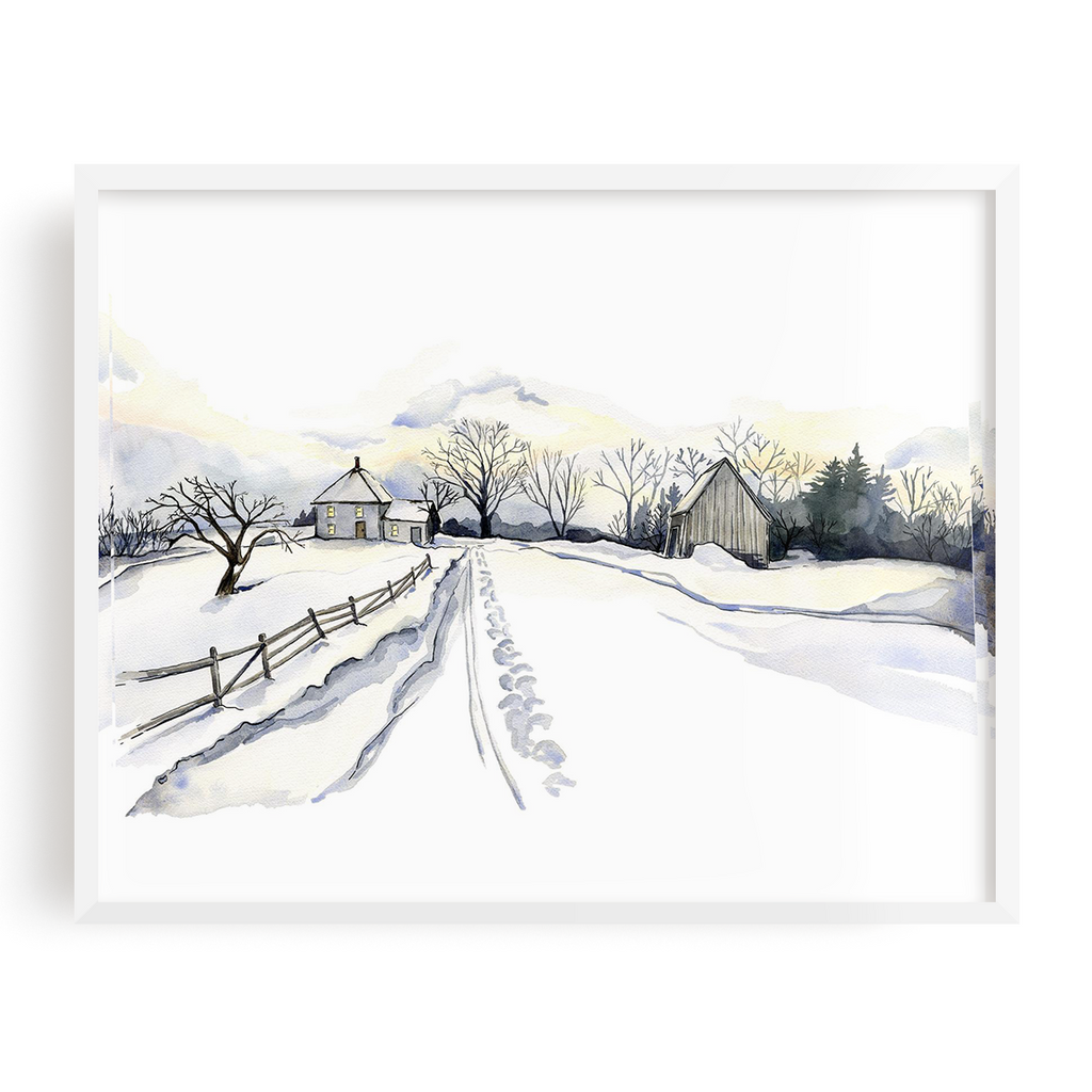 Winter In Elmwood Print
