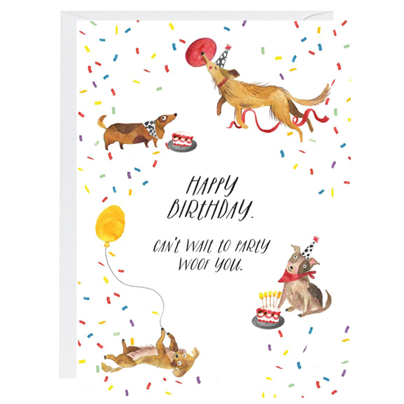 Party Woof You Card