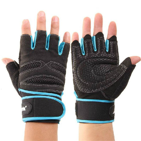 1PC Weight Lifting Training Fitness Workout Wrist Wrap Exercise Gloves Abrasion Resistant Fingerless Comfortable Gloves#W21