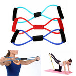 Yoga Resistance Bands Tube Sport Exerciser Fitness Expander Training 8 type Elastic Rope Pull Workout Tube for Body Building