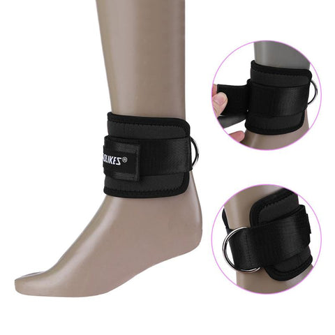 1pc Fitness Adjustable D-Ring Ankle Strap Guard Foot Support Protector Gym Exercise Ankle Cuffs Leg Power Training Equipment