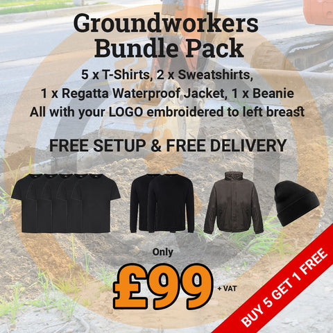 Groundworkers embroidered workwear