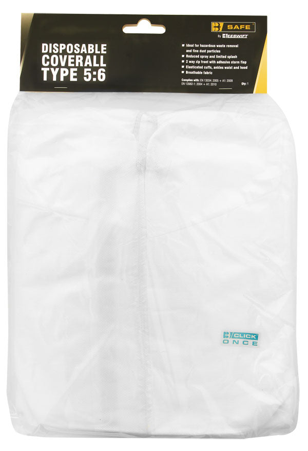 Disposable Coverall Type 5:6 White