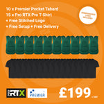10 X Premier Tabards and 15 x Pro RTX T-Shirts