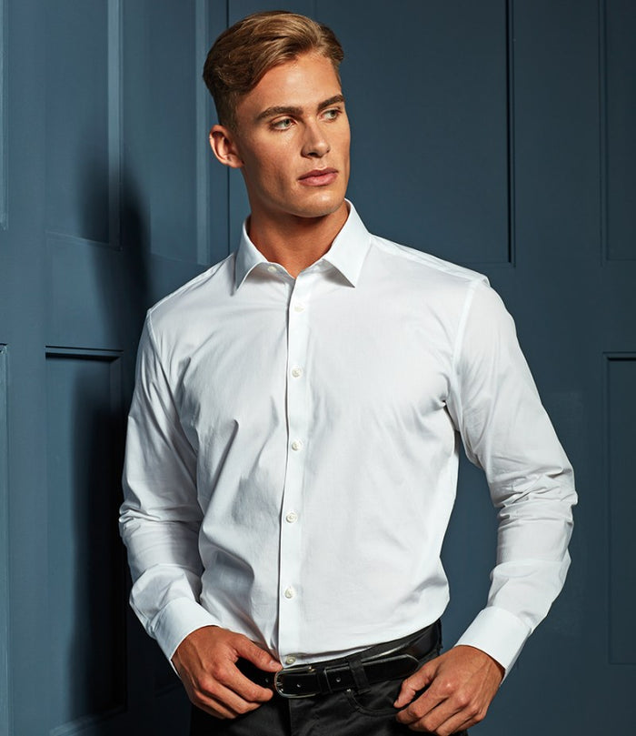 Premier Long Sleeve Stretch Fit Poplin Shirt