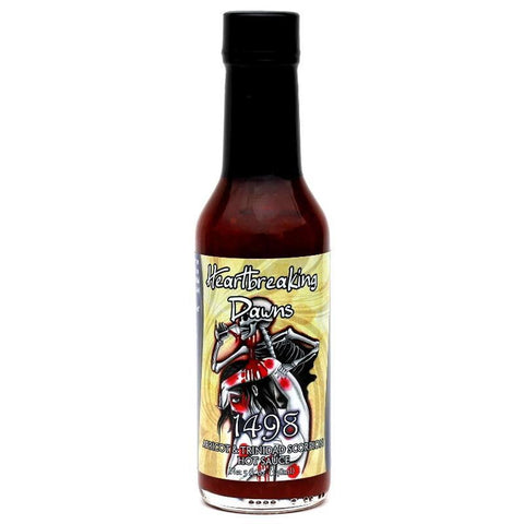 Heartbreaking Dawn's 1498 Trinidad Scorpion Hot Sauce - Lucifer's House of Heat