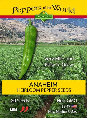 Anaheim Pepper Seeds - Lucifer's House of Heat