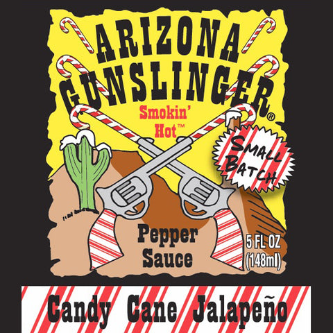 Arizona Gunslinger Candy Cane Jalapeno Hot Sauce (5oz) - Lucifer's House of Heat