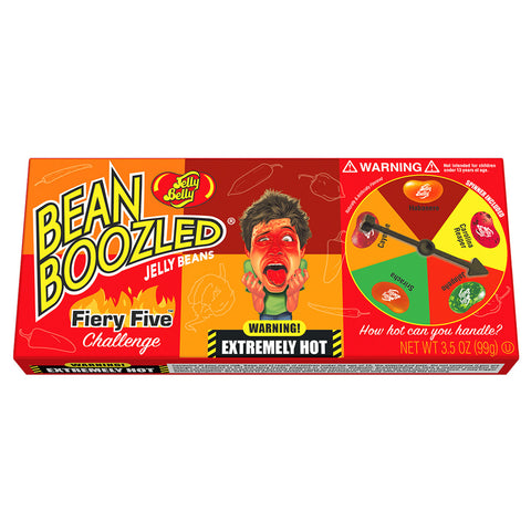 Jelly Belly Bean Boozled Fiery Five 3.5oz (Box) - Lucifer's House of Heat