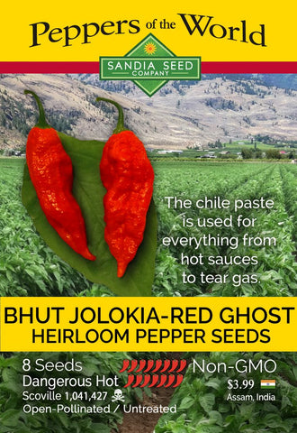 Bhut Jolokia Red Ghost Pepper Seeds - Lucifer's House of Heat