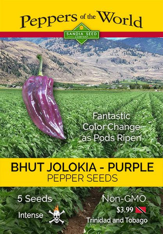 Bhut Jolokia Purple Seeds - Lucifer's House of Heat