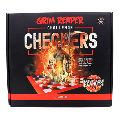 Blazing Foods Grim Reaper Challenge Checkers - Lucifer's House of Heat