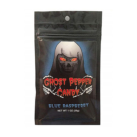 Blue Raspberry Ghost Pepper Candy - Lucifer's House of Heat