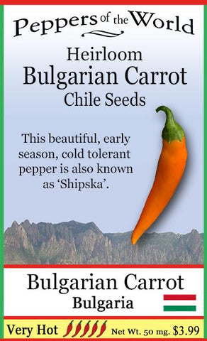 Bulgarian Carrot Pepper Seeds - Lucifer's House of Heat