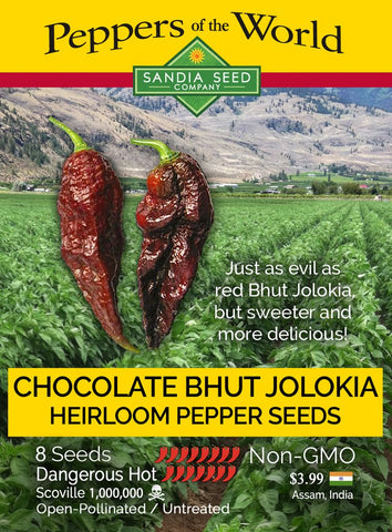 Bhut Jolokia Chocolate Seeds - Lucifer's House of Heat