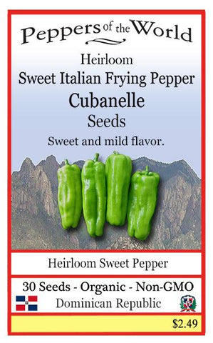 Cubanelle - Sweet Pepper Seeds - Lucifer's House of Heat