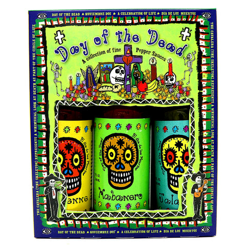 Day of the Dead Hot Sauce 3 Pack - Lucifer's House of Heat