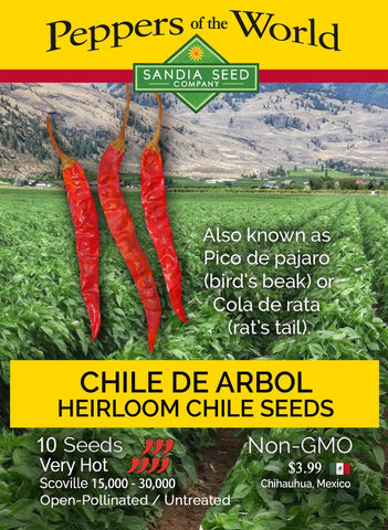 Chile de Arbol Seeds - Lucifer's House of Heat