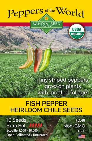 Fish Pepper Seeds ORG - Lucifer's House of Heat