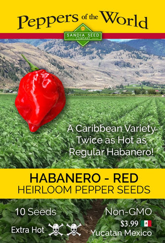 Habanero Caribbean Red Seeds - Lucifer's House of Heat