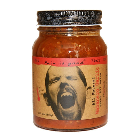 Pain is Good Habanero Garlic Salsa - Lucifer's House of Heat