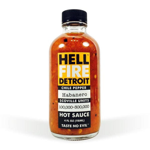 Hell Fire Detroit Habanero Hot Sauce - Lucifer's House of Heat