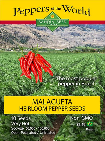 Malagueta Heirloom Pepper Seeds - Lucifer's House of Heat