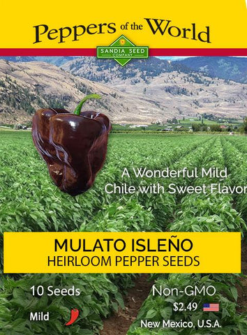 Mulato Isleño Chile - Chocolate Poblano Seeds - Lucifer's House of Heat