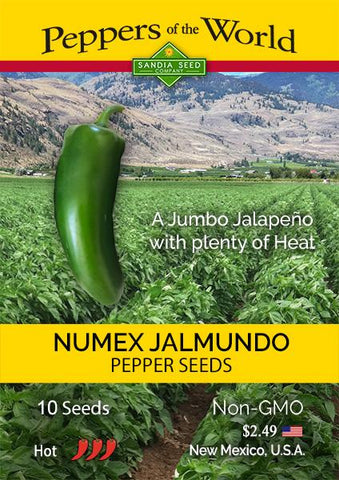 NuMex Jalmundo Jalapeño Pepper Seeds - Lucifer's House of Heat