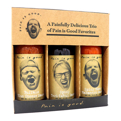 Pain is Good Wing Sauce Gift Set - Lucifer's House of Heat